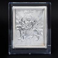 Maa Durga silver frame