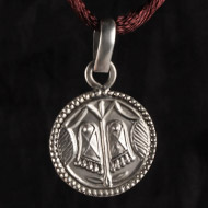 Lakshmi Charan Locket in Pure Silver