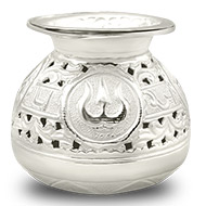 Navratri Kalash Akhand Jyoth Lamp in Pure Silver