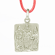 Ram Parivar in pure silver locket