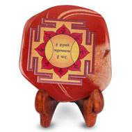 Shree Hanuman Yantra on Red Jasper