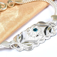 Pure silver Rakhi - Design XXI