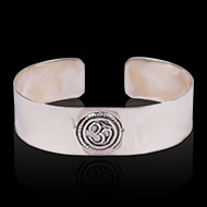 Om Kada in pure silver - Design I