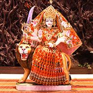 Goddess Durga marble idol - Big