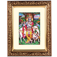 Krishna with Gomatha Frame