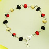Chirmi beads silver bracelet
