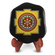 Shree Kuber Yantra on Black Onyx