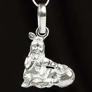 Radha Krishna Locket - in Pure Silver - Design IV