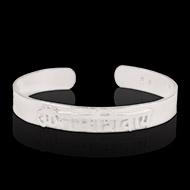 Om Namah Shivaya Bracelet Pure silver - Design IV