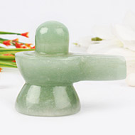 Light Green Jade Shivlinga - 124 gms
