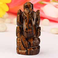 Tiger Eye Ganesha - 60 gms