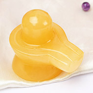 Shivlinga in Yellow Jade - 56 gms