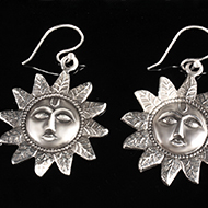 Surya Earrings in Silver - Design II