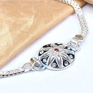 Pure silver Rakhi - Design VII