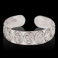 Om Bracelet in pure silver