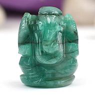 Emerald Ganesha - 31.60 Carats