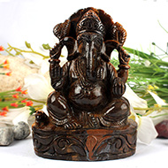 Tiger Eye Ganesha - 808 gms