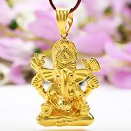 Ganesh Pendant in Gold - 9.05 gms
