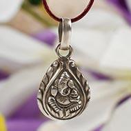 Ganesh Locket in pure silver - XLI