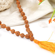 Rudraksha mala in thread - 7mm