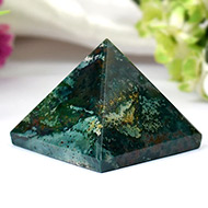 Pyramid in Natural Bloodstone-39 gms