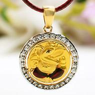 Ganesh Pendant in Gold - 2.36 gms