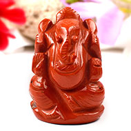 Red Jasper Ganesha-128 gms