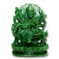 Durga Maa in Green Jade - 942 gms