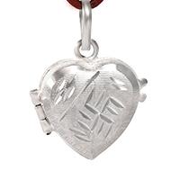 Heart Locket in pure silver - Swastik Design
