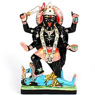 Maa Kaali in black marble idol - 12 inches