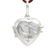 Heart Locket in pure silver - OM Design