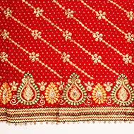 Red Bandhani Mata Ki Chunri