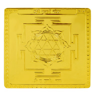 Shree Durga Yantra in Gold Polish - 3 Inches
