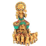 Surya Dev with Stone Work