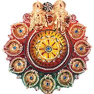 Ganesh Laxmi 9 diya set