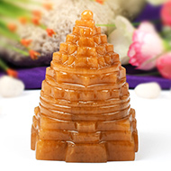 Yellow Jade Shree Yantra - 319 gms