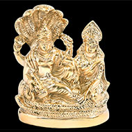 Vishnu Lakshmi in Brass