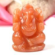 Red Jade Ganesha - 98 gms