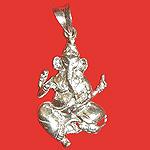 Ganesh Locket - in Pure Silver - Design XVI