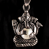 Ganesh Locket in Pure Silver - Design XXXI
