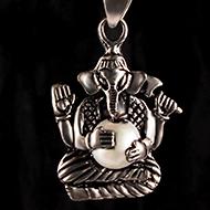 Ganesh Locket in Pure Silver - Design XXXI