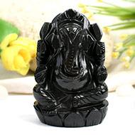 Obsidian Ganesha - 248 gms