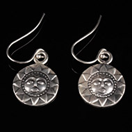 Surya Earrings in Silver - Design XI