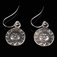 Surya Earrings in Silver - Design XI