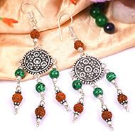 Rudraksha Kidney Stone Earring