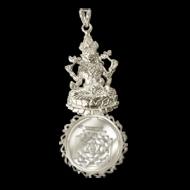 Mahalaxmi Devi Yantra Locket - Silver - Design I