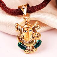 Ganesh Pendant in Gold - 1.29 gms
