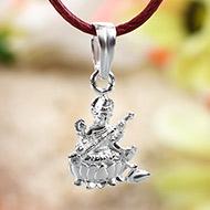 Saraswati Locket in Pure Silver - Design I