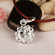 Om With Flower Locket-II