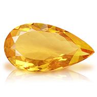 Yellow Citrine - 5-6 Carats - Pear